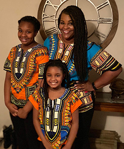 Nikki McGruder and her daughters
